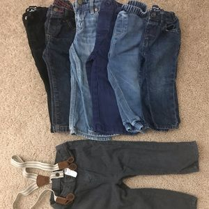 Other - 7 pairs of pants for a boy 12-24mos.